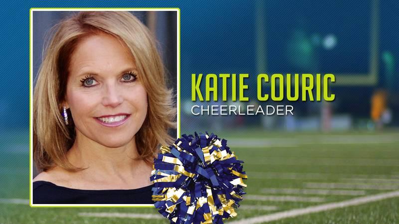 Katie Couric was a cheerleader