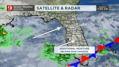 Video: Rain moves in ahead of storm system