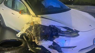 WATCH: Video shows Tesla on autopilot crash into FHP cruiser