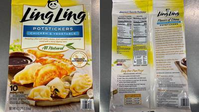 Pot sticker recall: 16 tons of Ling Ling products pulled over possible plastic contamination