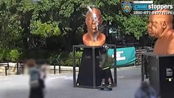 Actor arrested, accused of vandalizing George Floyd statue