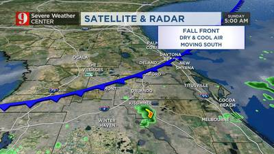 Cold front brings significant drop in temperatures Sunday night
