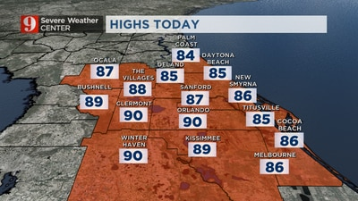 Hot and humid conditions continue this week, fall temps on their way