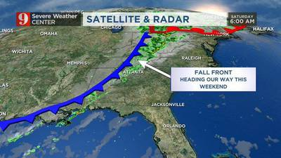VIDEO: Warm weekend temps make way for a front that will bring cooler weather