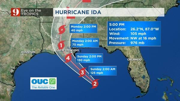 Meteorologist George Waldenberger is tracking Hurricane Ida