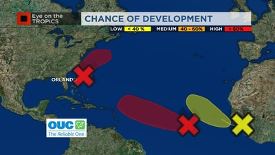 3 systems being monitored in Atlantic, including 2 with at least 70% chance of development