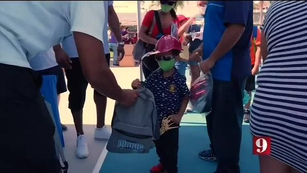 VIDEO:  Central Florida pro sports teams hosting school supply drives for kids in need