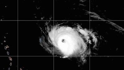 Hurricane Sam restrengthens into Category 4 storm