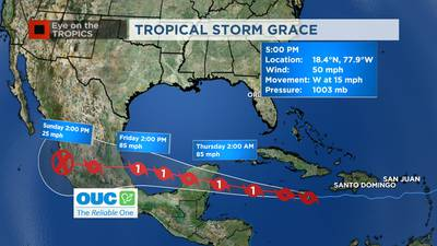 Eye on the tropics: Fred downgraded to tropical depression, Grace and Henri continue to strengthen