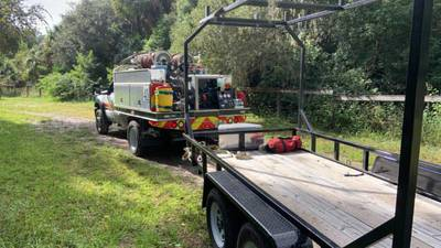 Photos: Seminole County firefighters rescue person injured after falling off horse near Lake Jesup