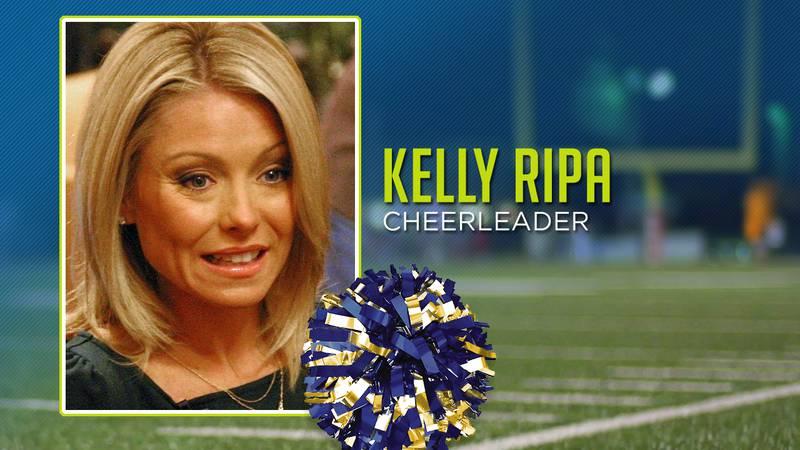 Kelly Ripa was a cheerleader