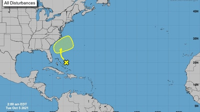Large area of disorganized showers, storms being monitored near the Bahamas