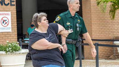 VIDEO: At least 1 arrested outside Brevard Public Schools meeting as board votes to extend mask mandate