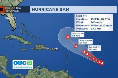 Eye on the Tropics: Sam strengthens to Category 4 Hurricane