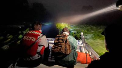 Seminole County firefighters use boat to find man lost overnight in thick vegetation