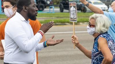 Photos: Anti, pro-masking demonstrators clash ahead of Lake County School Board meeting
