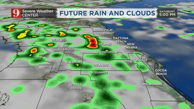 VIDEO: Scattered storms on Saturday, with chance of lightning
