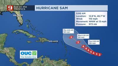 VIDEO: Eye on the Tropics: Sam strengthens, set to become major hurricane on Saturday