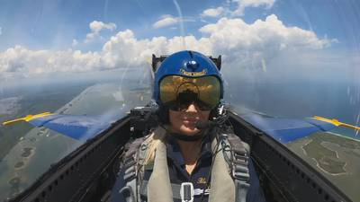 WATCH: Channel 9 anchor Martha Sugalski flies with Blue Angels