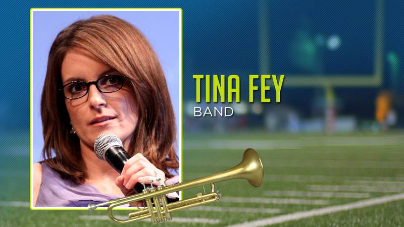 Tina Fey played the flute in high school.