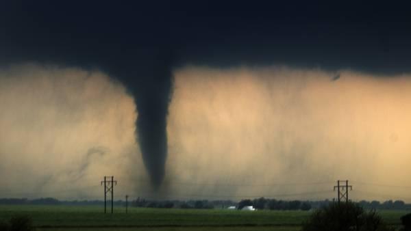 WATCH: Tornado crosses Texas freeway in dramatic viral video