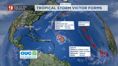 Hurricane Sam to bring large swells to Atlantic coast; Tropical Storm Victor continues to strengthen
