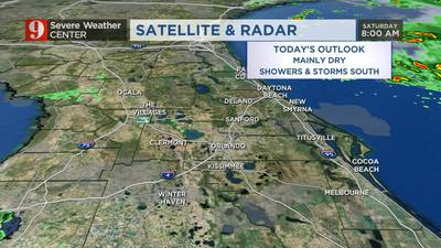 Mild temps with slight chance of storms on Saturday