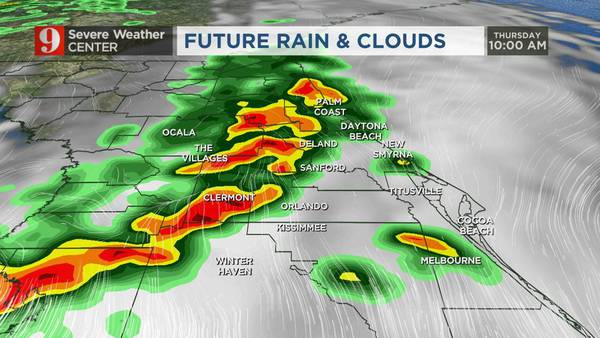 VIDEO: Severe storms, strong fall cold front heading toward Central Florida