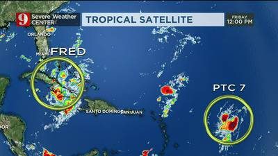 Video: Tracking Fred: Storm remains poorly organized as it moves along Cuba's coast