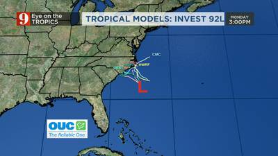 Eye on the Tropics: Storm could develop off coast of Carolinas