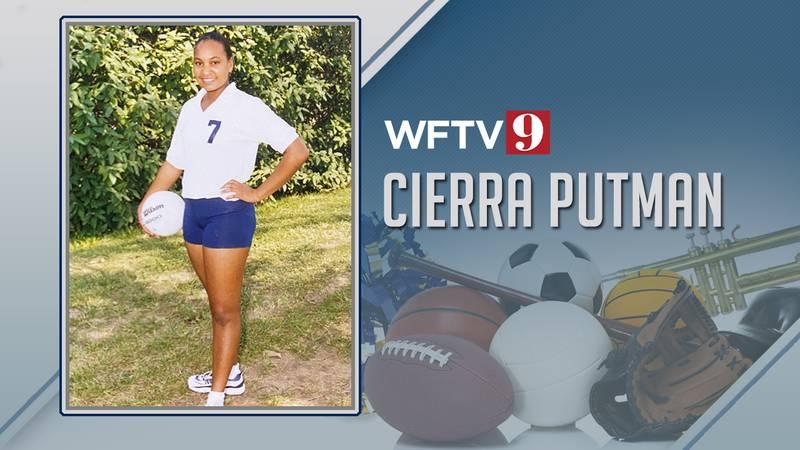 Cierra Putman high school volleyball