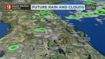 Warm temps with slight chance of rain on Saturday