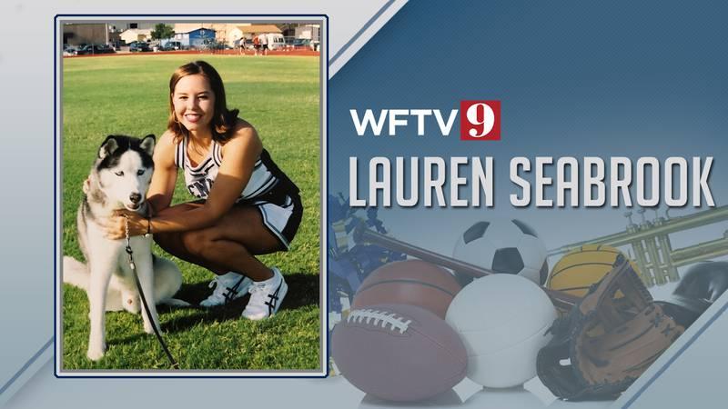 Lauren Seabrook cheerleading