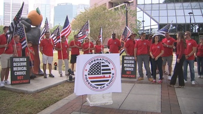 Video: Orange County firefighters give update on lawsuit challenging vaccine mandate